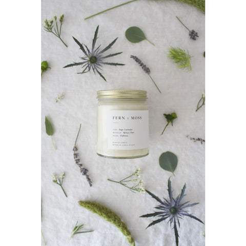 Brooklyn Candle Studio Minimalist Candle | Fern + Moss MI001