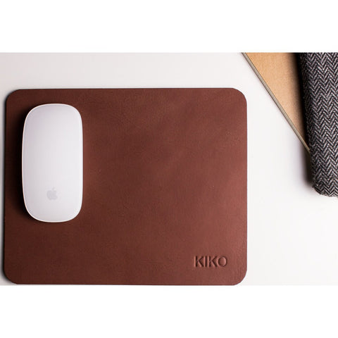 Kiko Leather Mousepad | Brown 201brwn