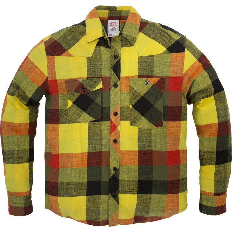 Topo Designs Plaid Flannel Work Shirt | Yellow/Black