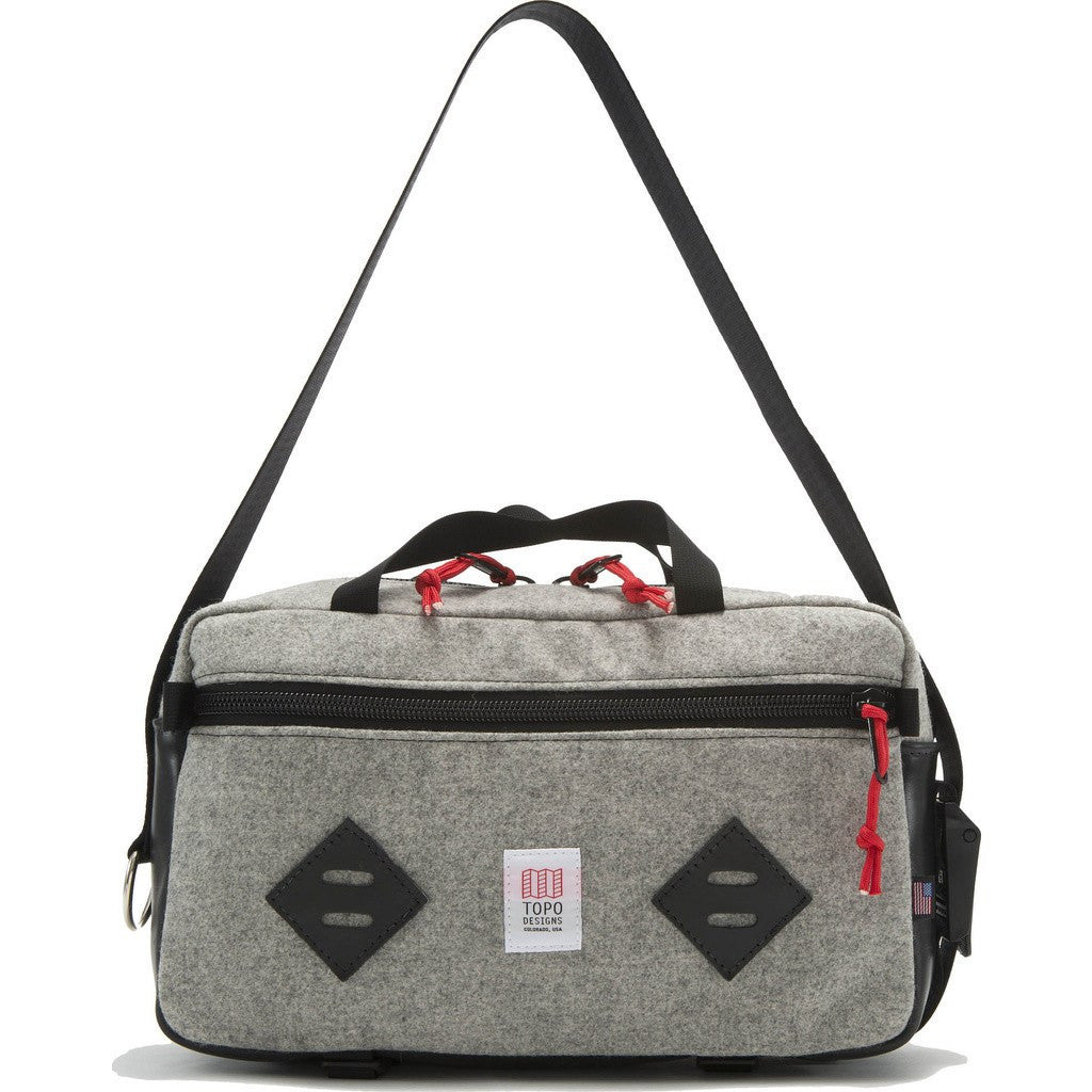 Topo Designs x Woolrich Mini Mountain Bag | Gray Wool/Leather