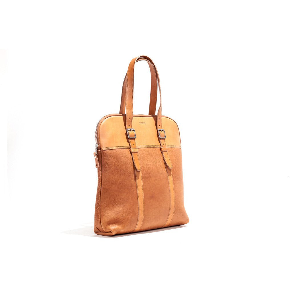 Billykirk No. 207 Padded Laptop Tote Bag | Tan Milled Leather