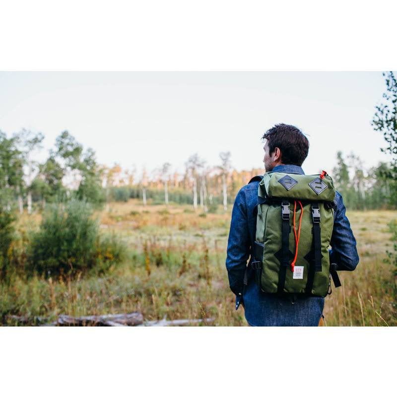 Topo Designs Klettersack 22L Backpack | Olive/Black Leather