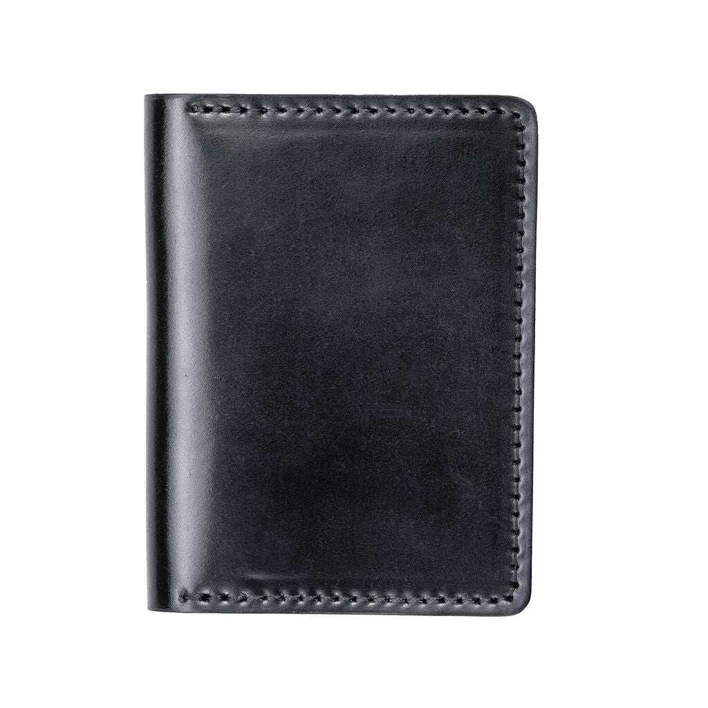 Hello Nomad Shell Cordovan Leather Wallet | Black
