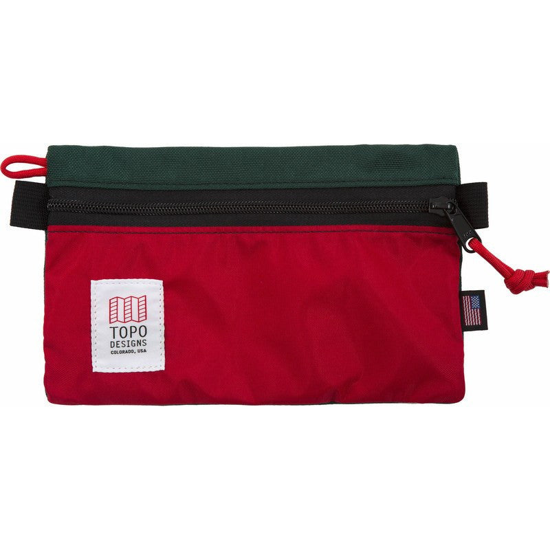 Topo Designs Accessory Bags | Forest/Red Small