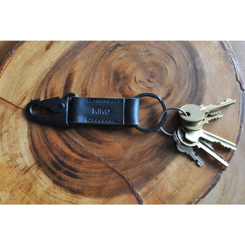 Kiko Leather Key Hook Fob | Black 216blk