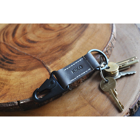 Kiko Leather Key Hook Fob | Brown 216brwn