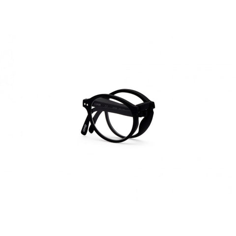Izipizi Foldable Reading Glasses F-Frame | Black Soft