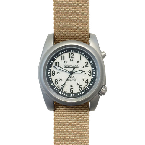 Bertucci A-2SEL Ghost Gray Watch | Defender Khaki Nylon 22027