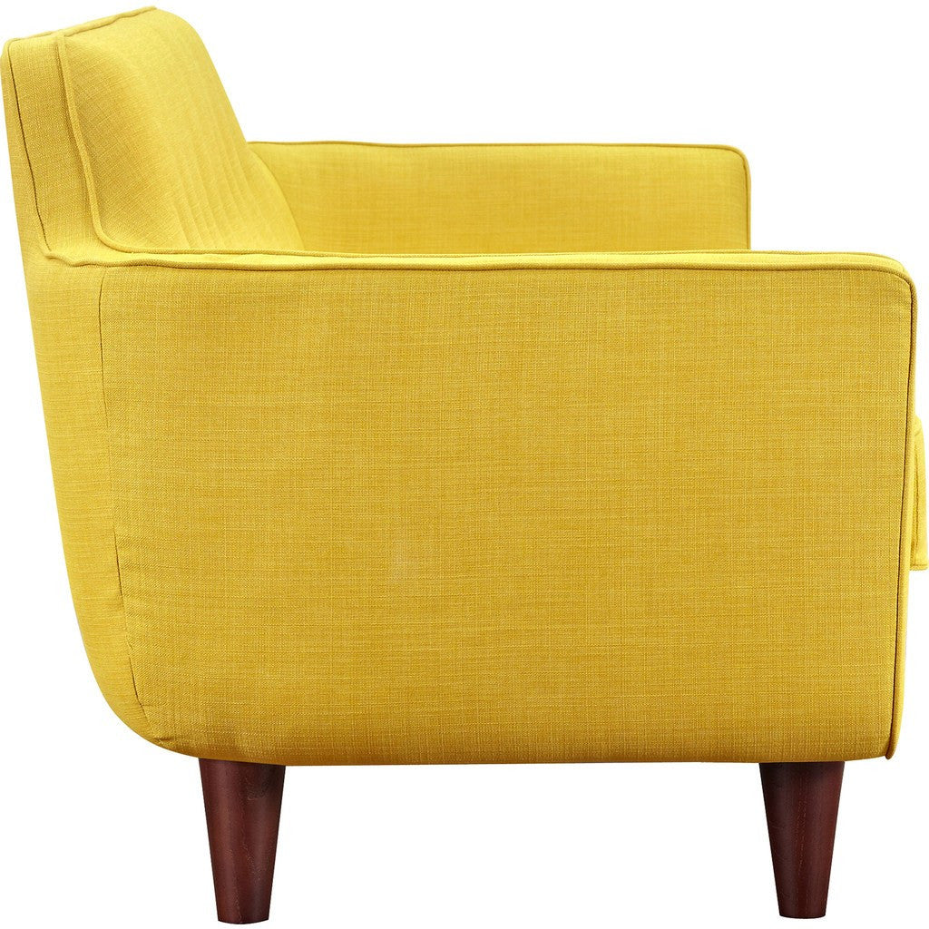 NyeKoncept Agna Sofa | Walnut/Papaya Yellow 223387-B