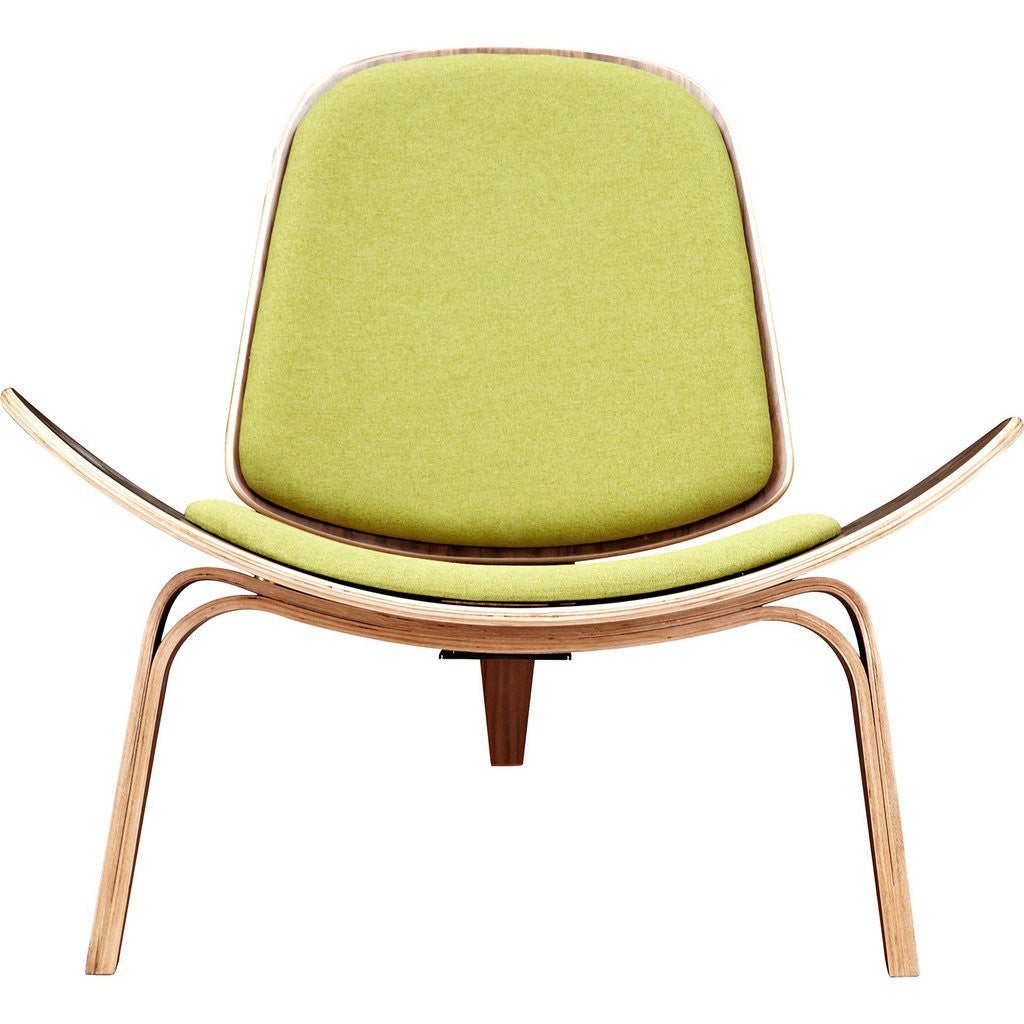 NyeKoncept Shell Chair | Walnut/Avocado Green 224432-B