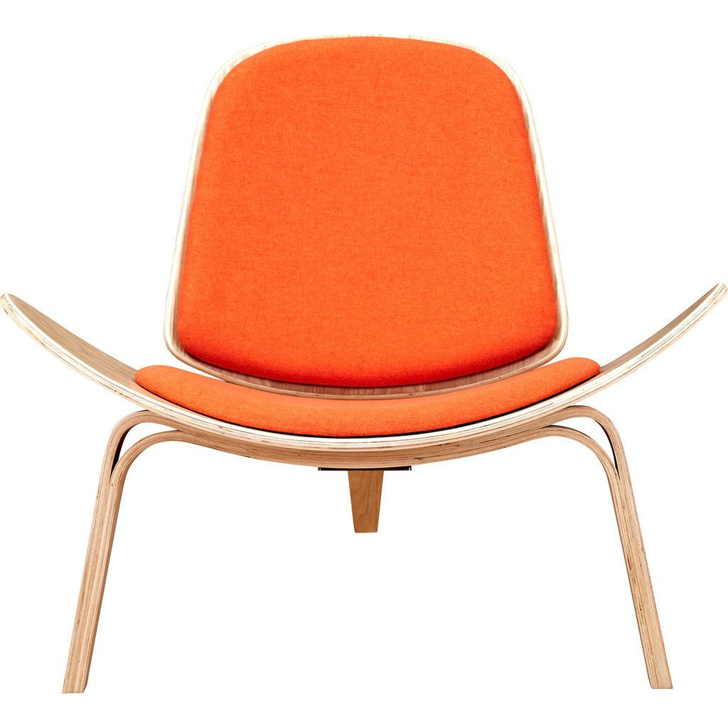 NyeKoncept Shell Chair | Natural/Retro Orange 224433-C