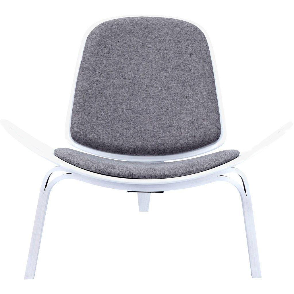 NyeKoncept Shell Chair | White/Steel Gray 224435-A