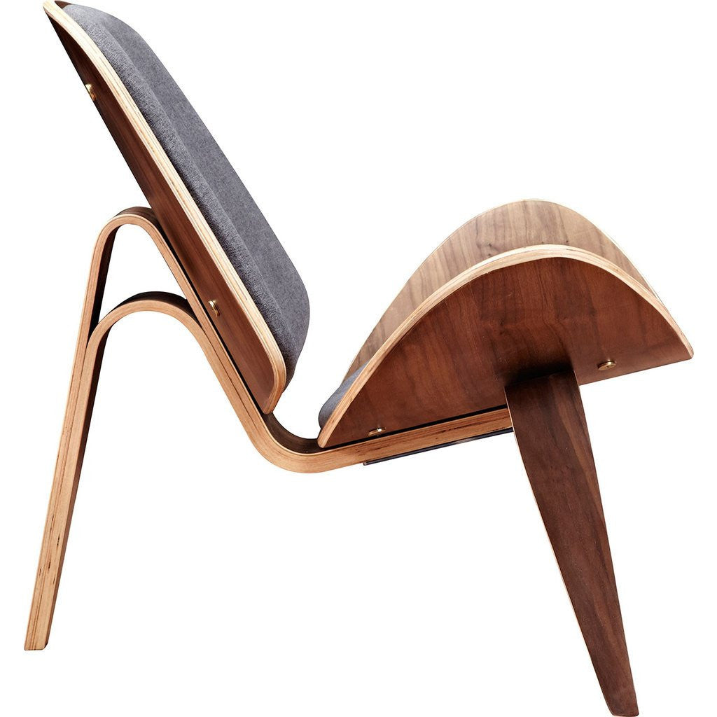 NyeKoncept Shell Chair | Walnut/Steel Gray 224435-B