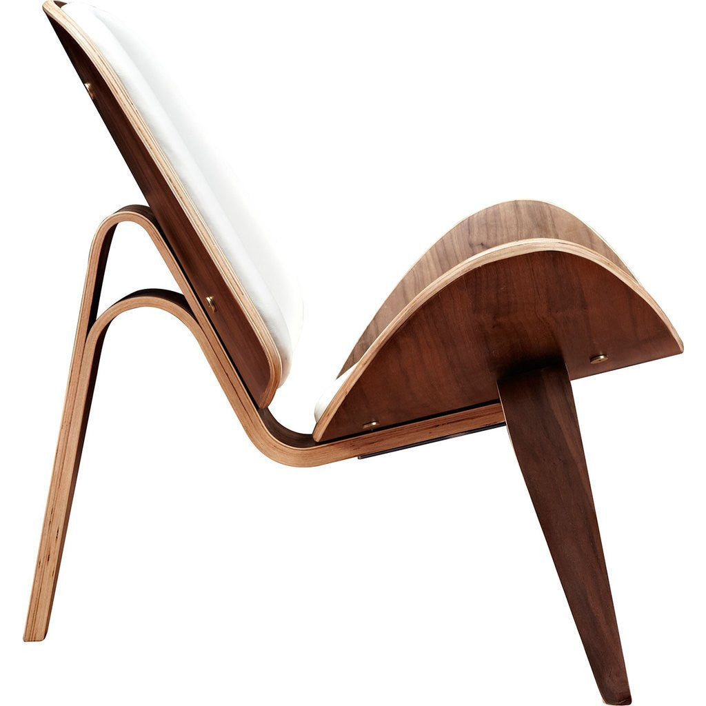 NyeKoncept Shell Chair | Walnut/Milano White 224437-B