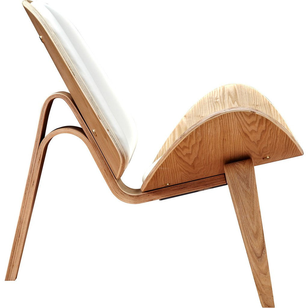 ... NyeKoncept Shell Chair | Natural/Milano White 224437 C ...
