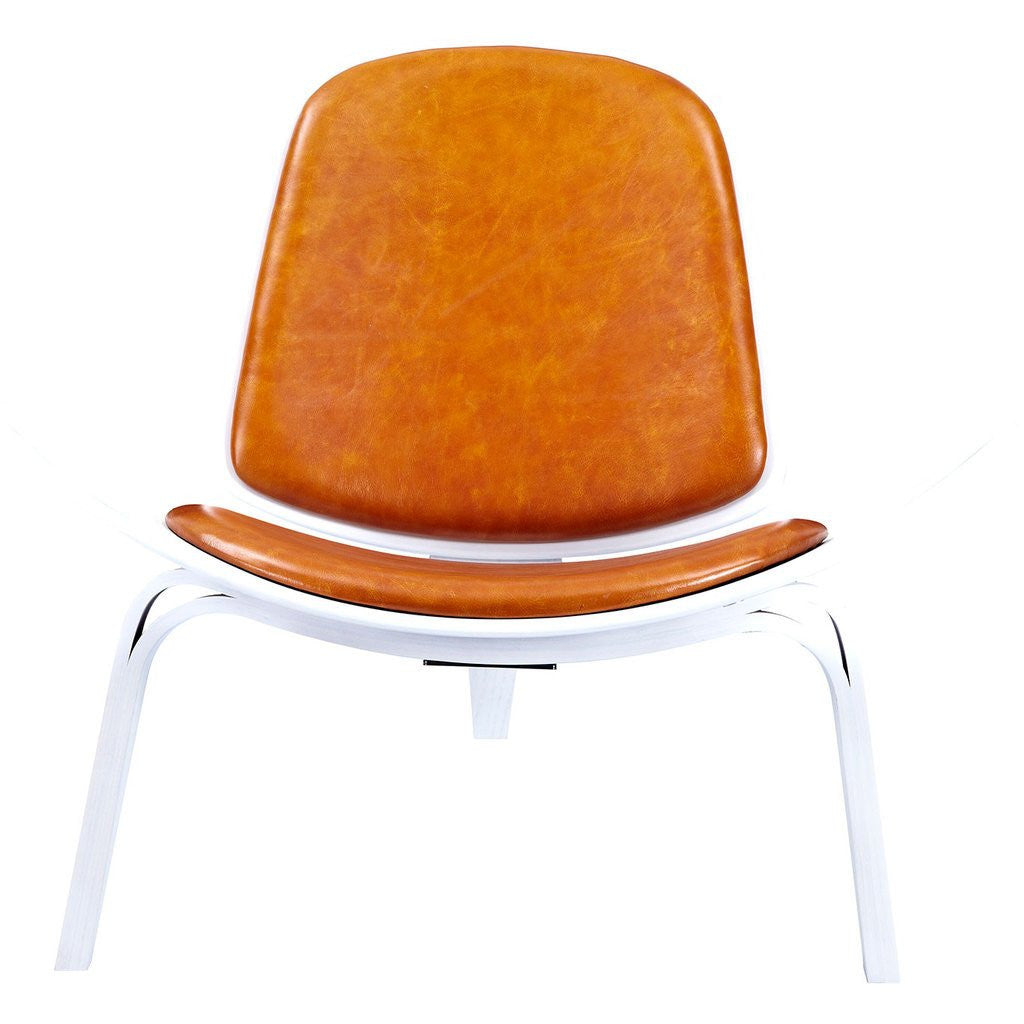 NyeKoncept Shell Chair | White/Burnt Orange 224438-A