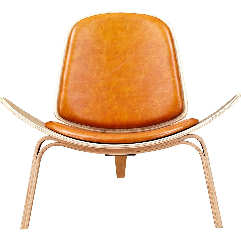 NyeKoncept Shell Chair | Natural/Burnt Orange 224438-C