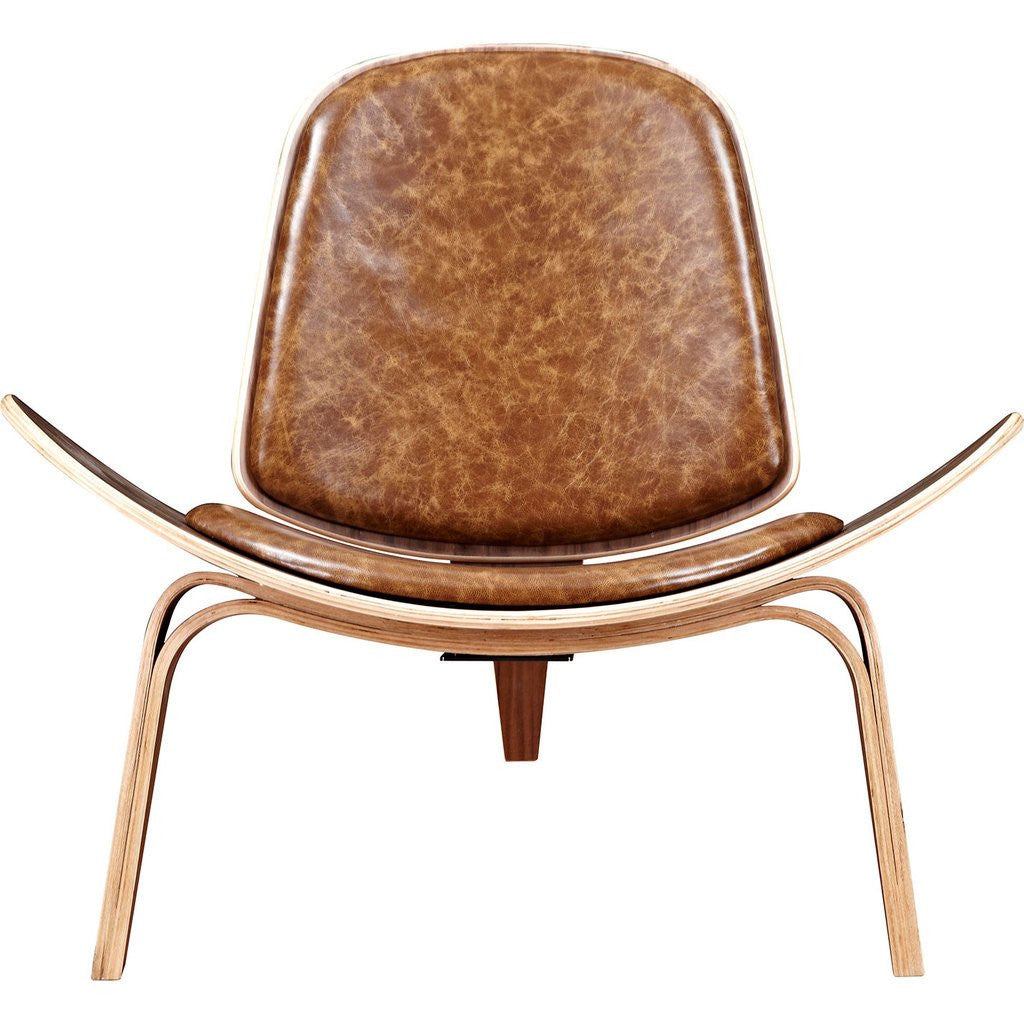 NyeKoncept Shell Chair | Walnut/Weathered Whiskey 224440-B