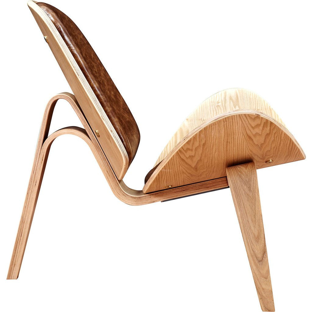 NyeKoncept Shell Chair | Natural/Weathered Whiskey 224440-C