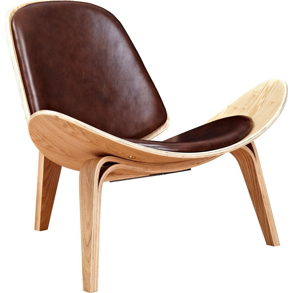 NyeKoncept Shell Chair | Natural/Aged Cognac 224441-C