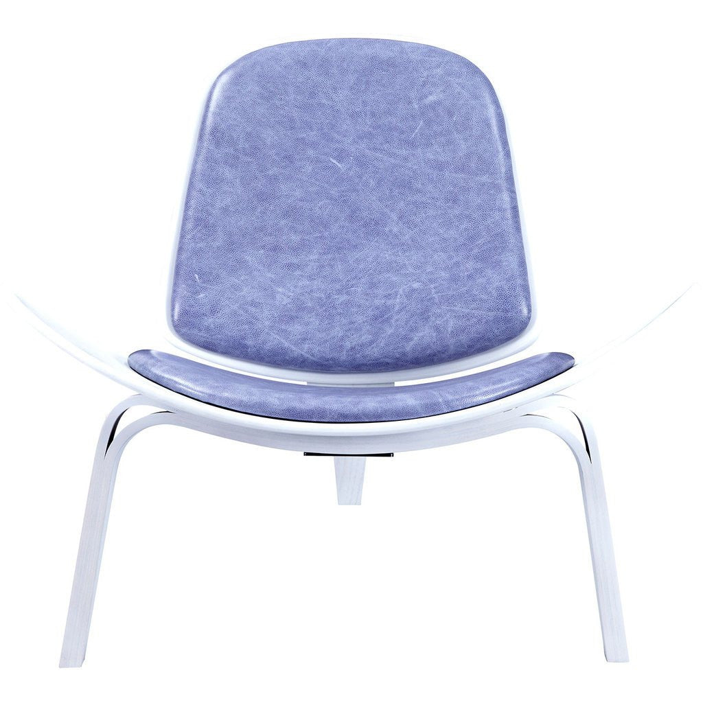 NyeKoncept Shell Chair | White/Weathered Blue 224442-A