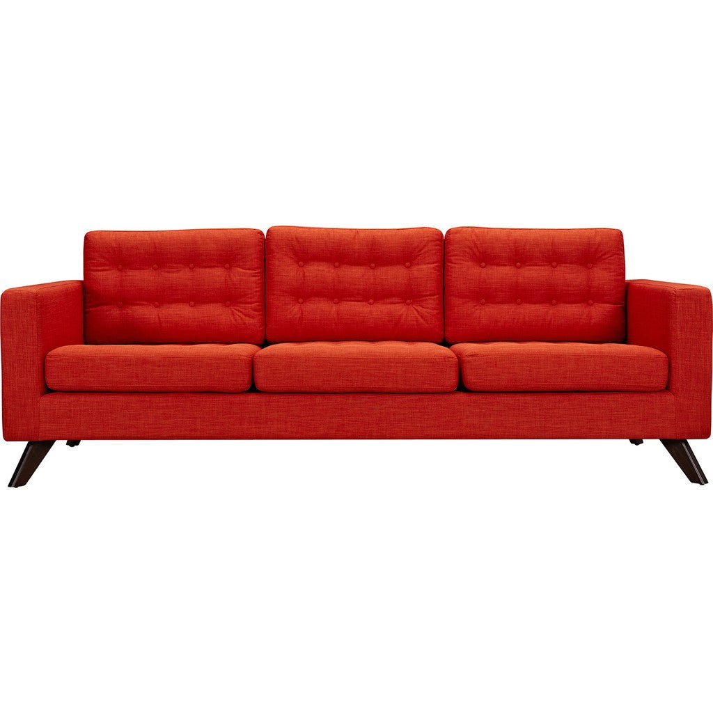 NyeKoncept Mina Sofa | Walnut/Retro Orange 224451-B