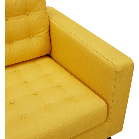 NyeKoncept Mina Sofa Set | Walnut/Papaya Yellow 224483-B