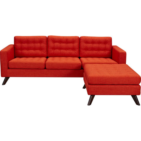 NyeKoncept Mina Sofa Set | Walnut/Retro Oranege 224484-B