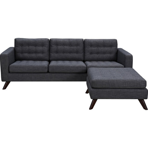 NyeKoncept Mina Sofa Set | Walnut/Charcoal Gray 224486-B