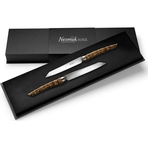 Nesmuk Soul Steak Knife Set | Karelian Birch Burl