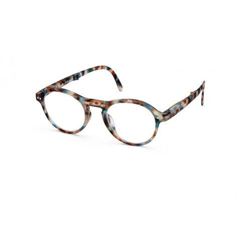 Izipizi Foldable Reading Glasses F-Frame | Blue Tortoise