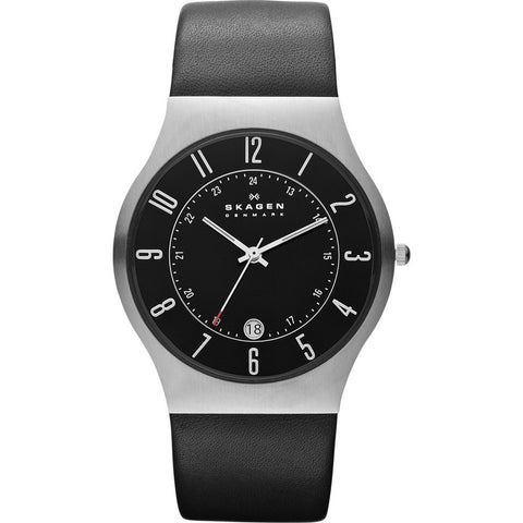 Skagen Grenen Black Watch | Leather 233XXLSLB