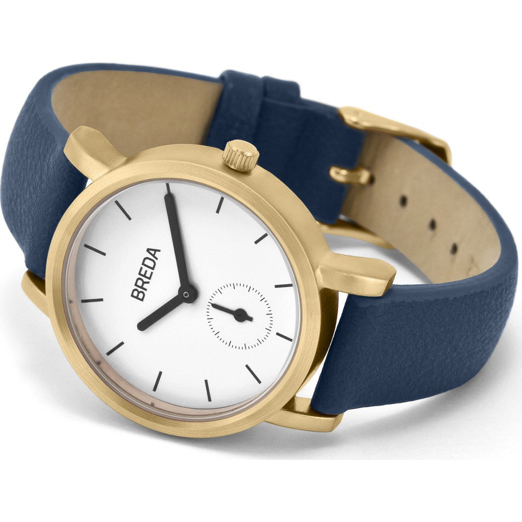 Breda Watches Palette Watch | Gold/Navy 2456f