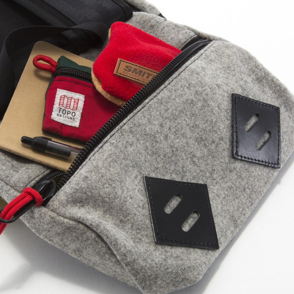 Topo Designs x Woolrich Klettersack 22L Backpack | Grey Wool/Leather