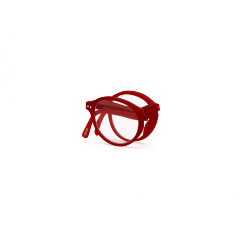 Izipizi Foldable Reading Glasses F-Frame | Red Crystal Soft