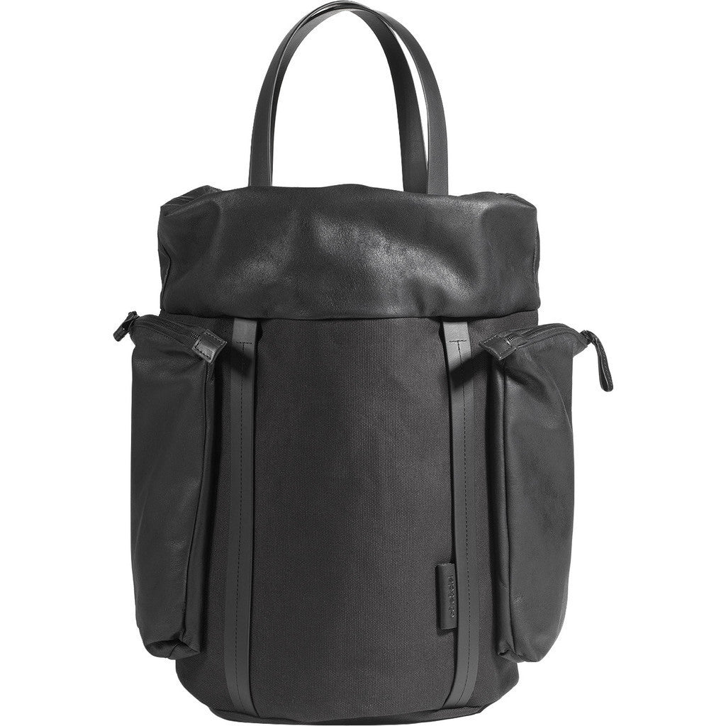 Cote&Ciel Saar Medium Waxed Canvas Tote | Jasper Black 28453