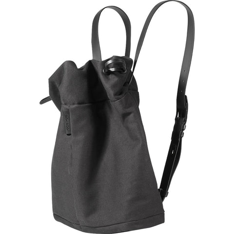 Cote&Ciel Saar Small Waxed Canvas Tote | Jasper Black 28454
