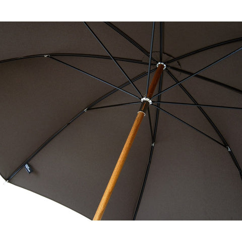 London Undercover Brown City Lux Umbrella | Malacca Wood Handle & Beech Wood Shaft LU LUX-006