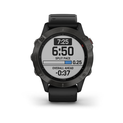 Garmin Fenix 6 Sapphire GPS Smartwatch Gray - Black Band, 010-02158-10