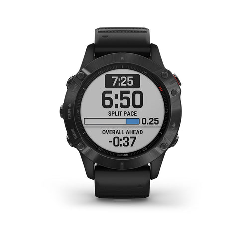 Garmin Fenix 6 GPS Glass Smartwatch Black - Black Band, 010-02158-01