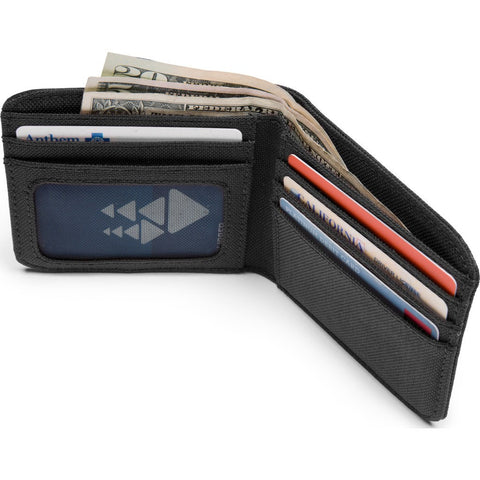 Chrome Nylon Bi-fold Wallet | Black AC-136-BKBK