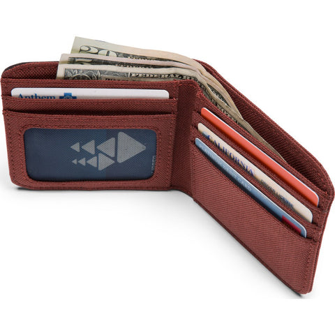 Chrome Nylon Bi-fold Wallet | Brick/Black AC-136-BRIK