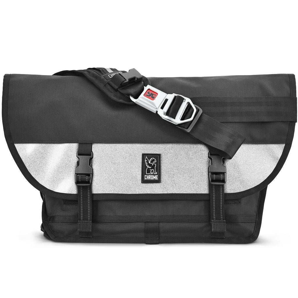 Chrome Citizen Medal Messenger Bag | Black/Silver