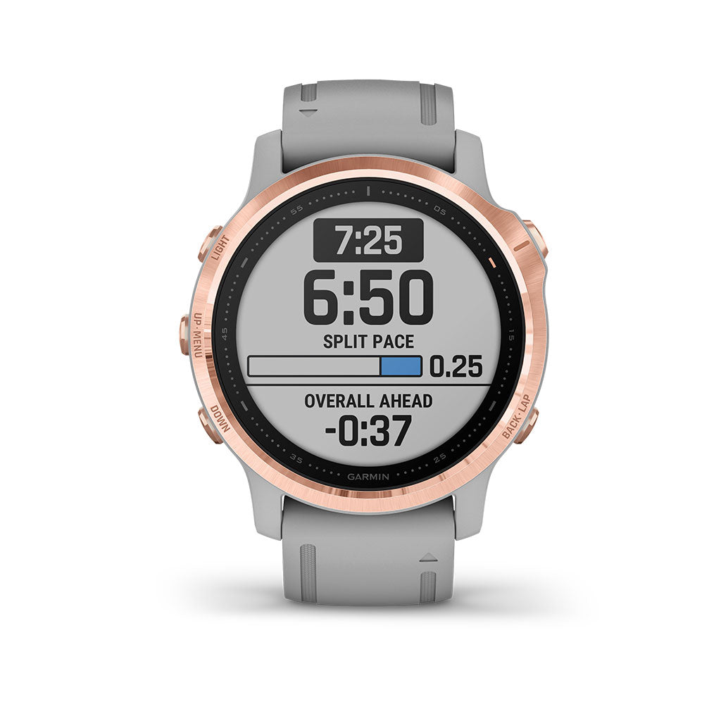 Garmin Fenix 6S Sapphire GPS Smartwatch Rose Gold - Gray Band, 010-02159-20