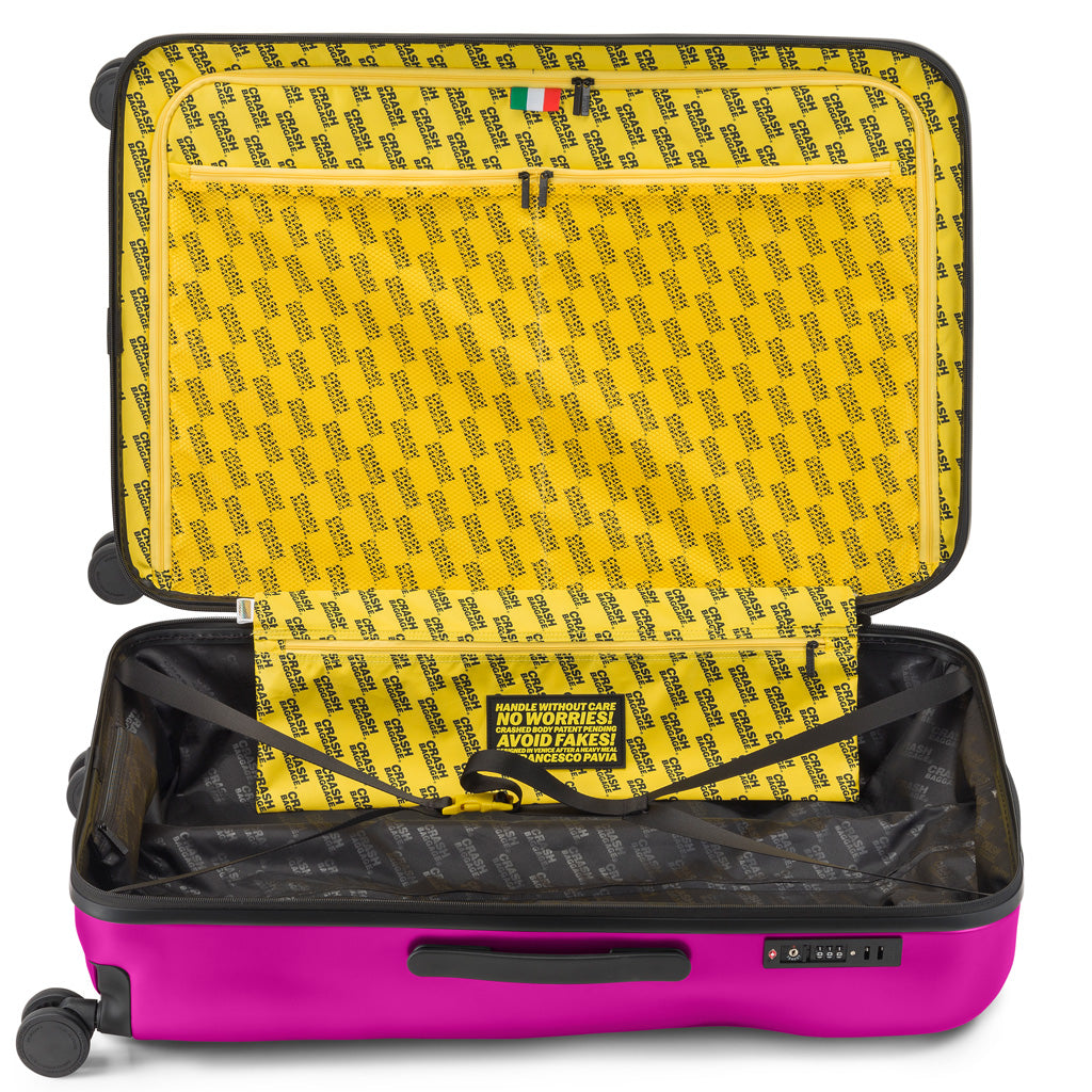 Crash Baggage Icon Trolley Suitcase - Fucsia