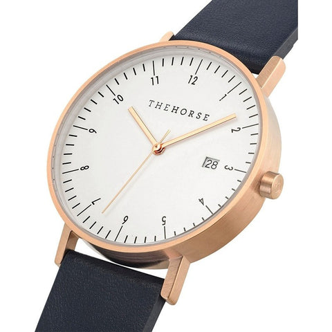The Horse D Series Rose Gold Watch | Navy D3