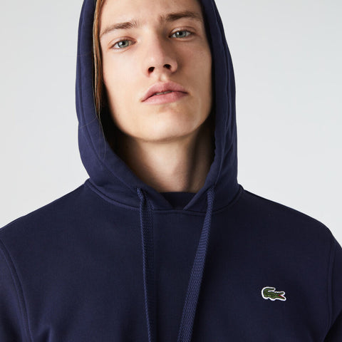Lacoste Men's Sport Hooded Fleece Sweatshirt | Navy Blue
