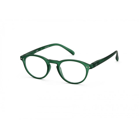 Izipizi Reading Glasses A-Frame | Green Crystal Soft