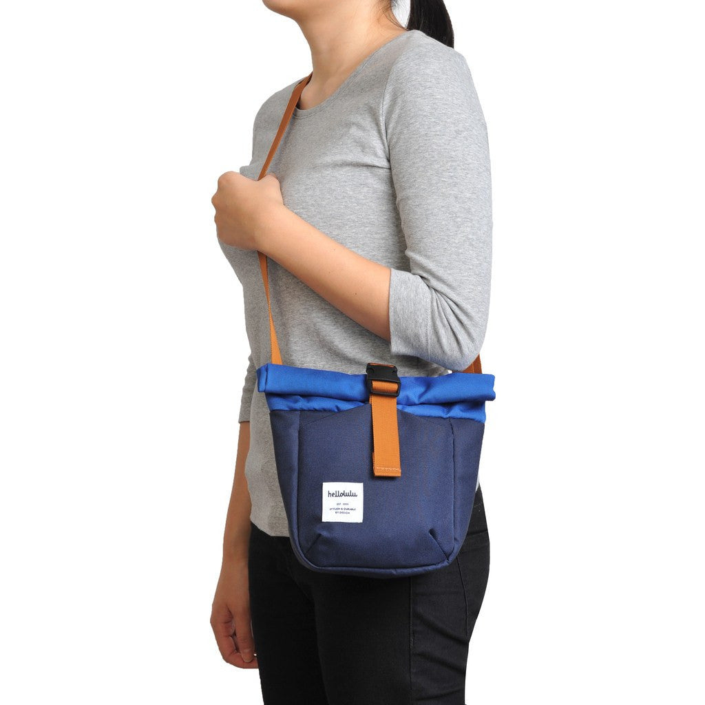 Hellolulu Matt Mini Camera Bag | Navy/Blue HLL-30020-NBL