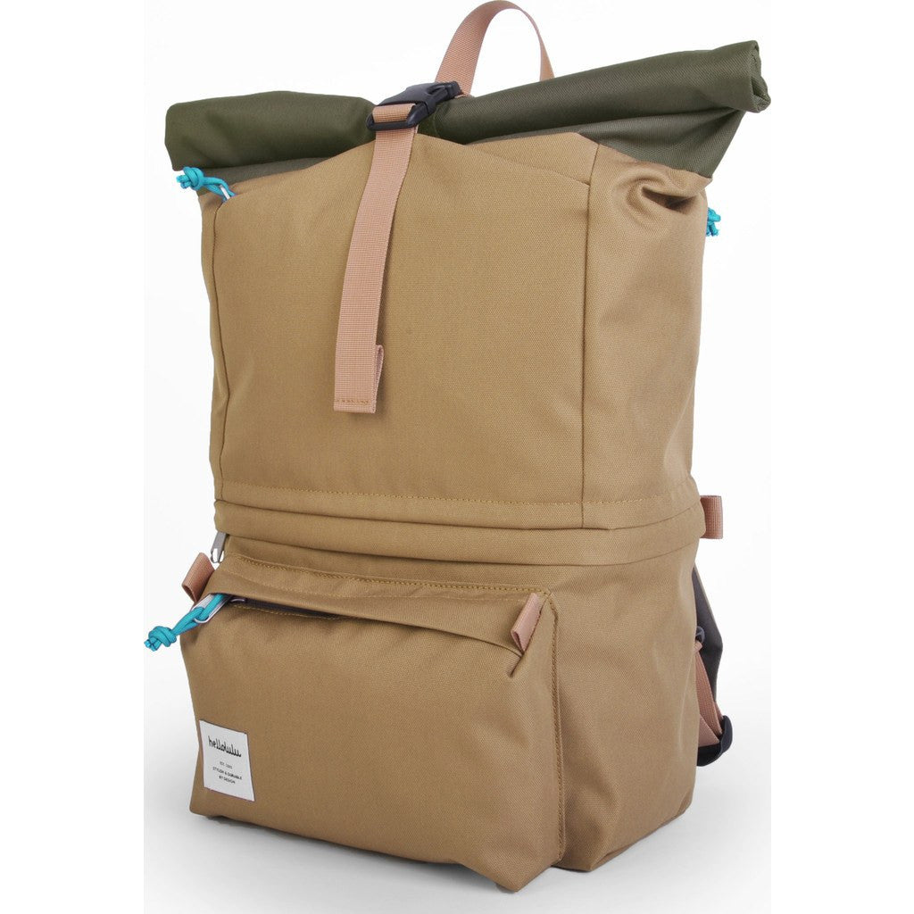 Hellolulu Polar Camera Rolltop Backpack | Khaki/Green HLL-30022-KGR